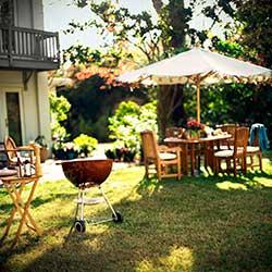 Barbecue Grill as Backyard Landscape Idea