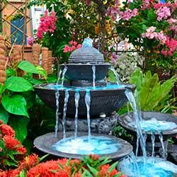 Charming Stone Fountain in Garden