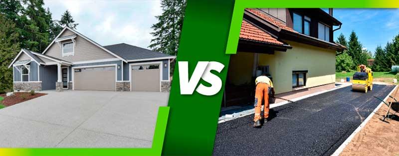 Asphalt vs concrete pavement