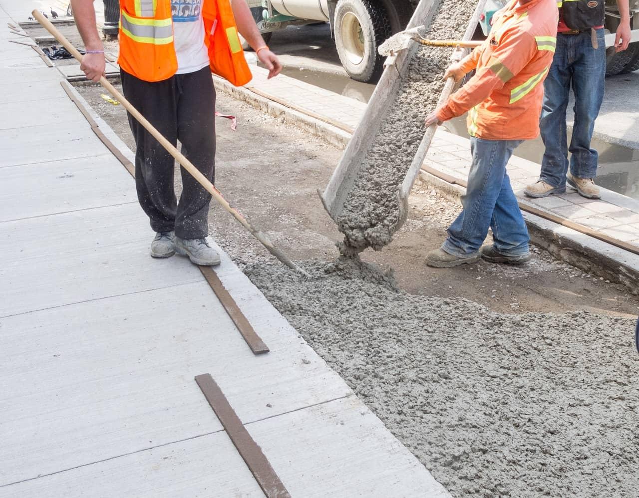 Concrete pavement